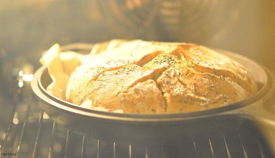Kruh v pečici.