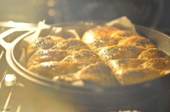 Pletenice v pečici.